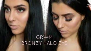 grwm bronzy halo eye   too faced sweet peach palette