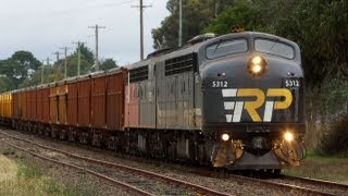 Chasing The Mineral Sands Train - Australian Trains, Victoria
