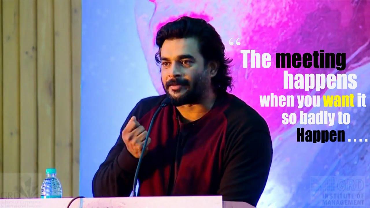 Download R. Madhavan's inspiring speech 2016