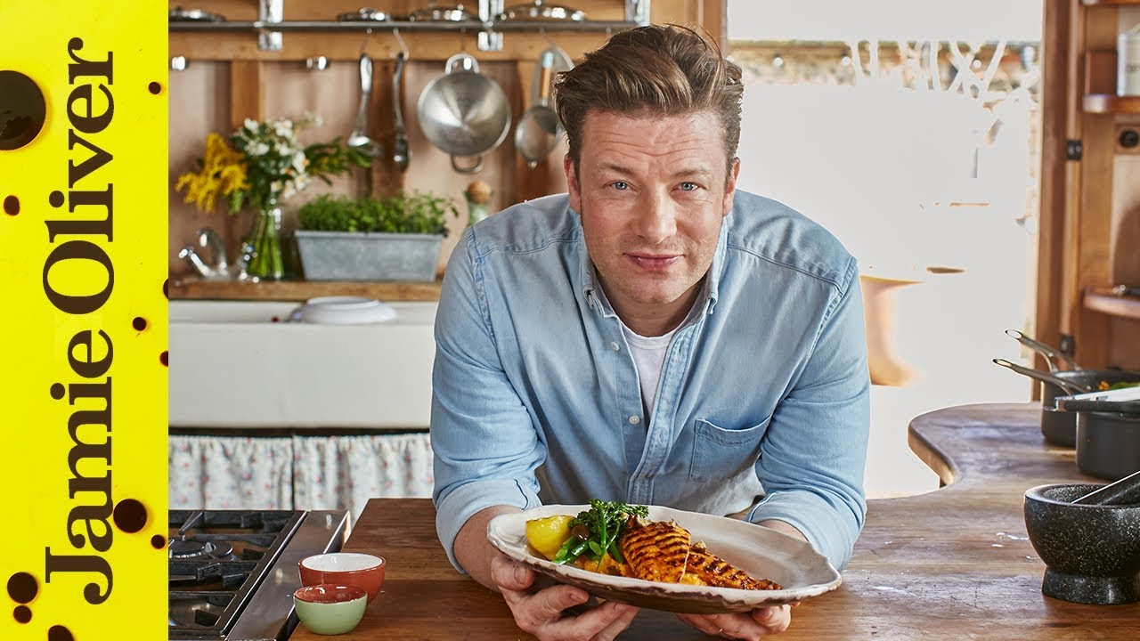 Lemon Chicken With Smashed Sweet Potato Jamie Oliver Youtube