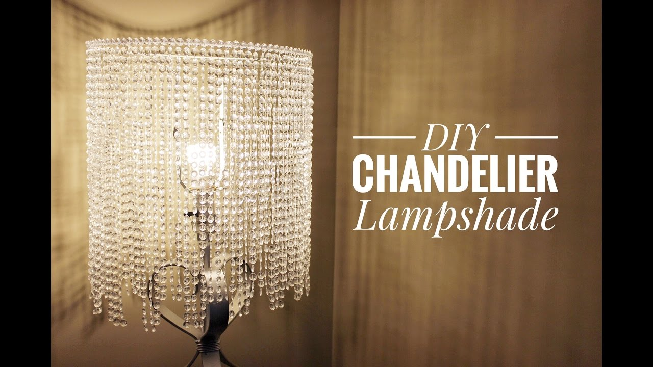 An easy way for you to make a beautiful chandelier lampshade youtube aloadofball Choice Image