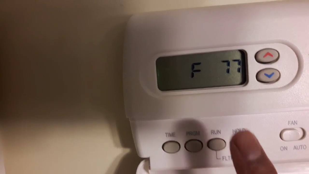 DIY how to change thermostat from degree Celcius to Farenheit if  instructions doesn't work