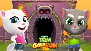 Talking Tom Gold Run roid Gameplay - Talking Tom  Talking Angela Catch the Raccoon Ep 1