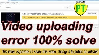 This video is private.To share this video, change it to public or unlisted || uploading error