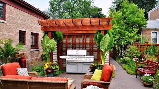 Patio design decorating ideas | furniture pond garden fountain DIY cover pavers