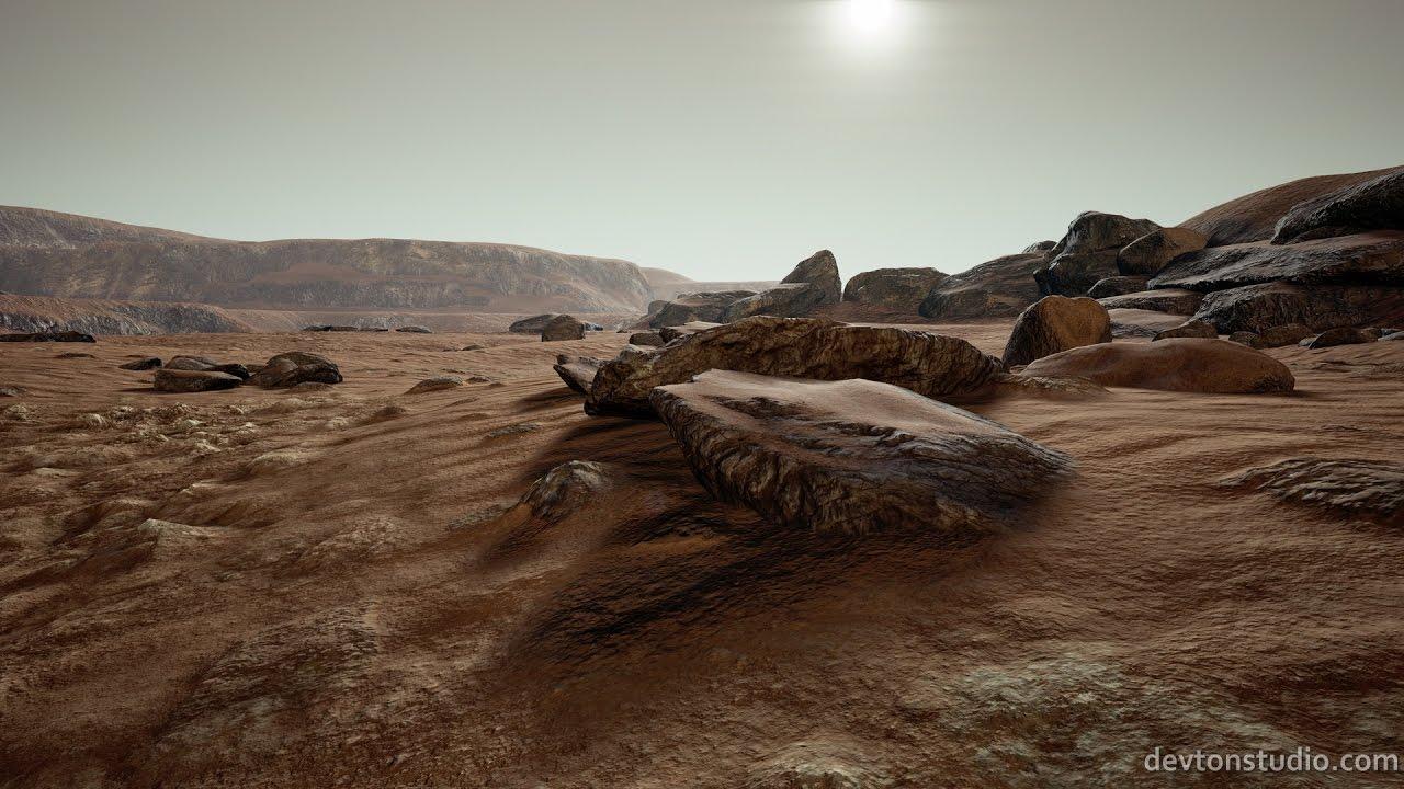 ue4 - devton mars concept landscape