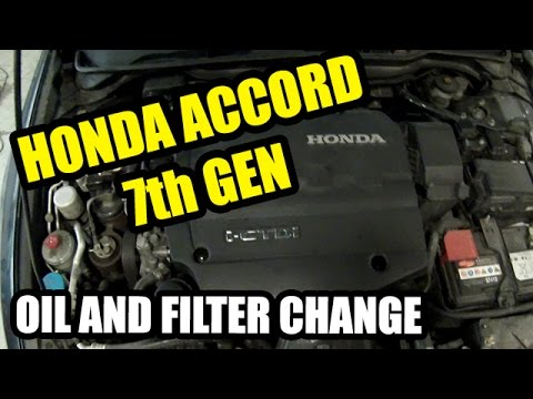 honda accord 2003 2007 i ctdi 2 2 oil and filter change youtube. Black Bedroom Furniture Sets. Home Design Ideas