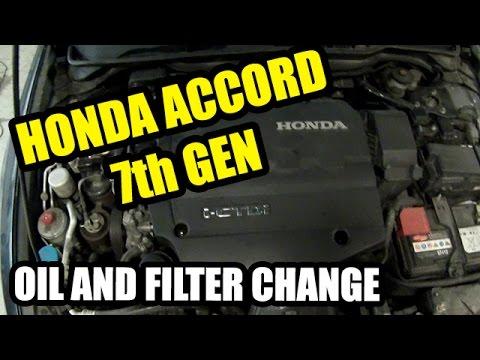2003 Honda Accord Fuel Filter Location Honda Accord 2003 2007 I Ctdi 2 2 Oil And Filter Change