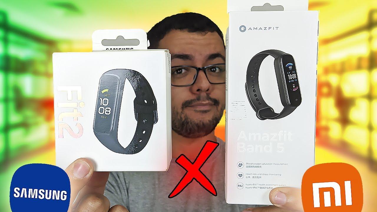 Galaxy Fit 2 vs Amazfit Band 5: Samsung ou Xiaomi? Qual a Melhor Smartband Barata?