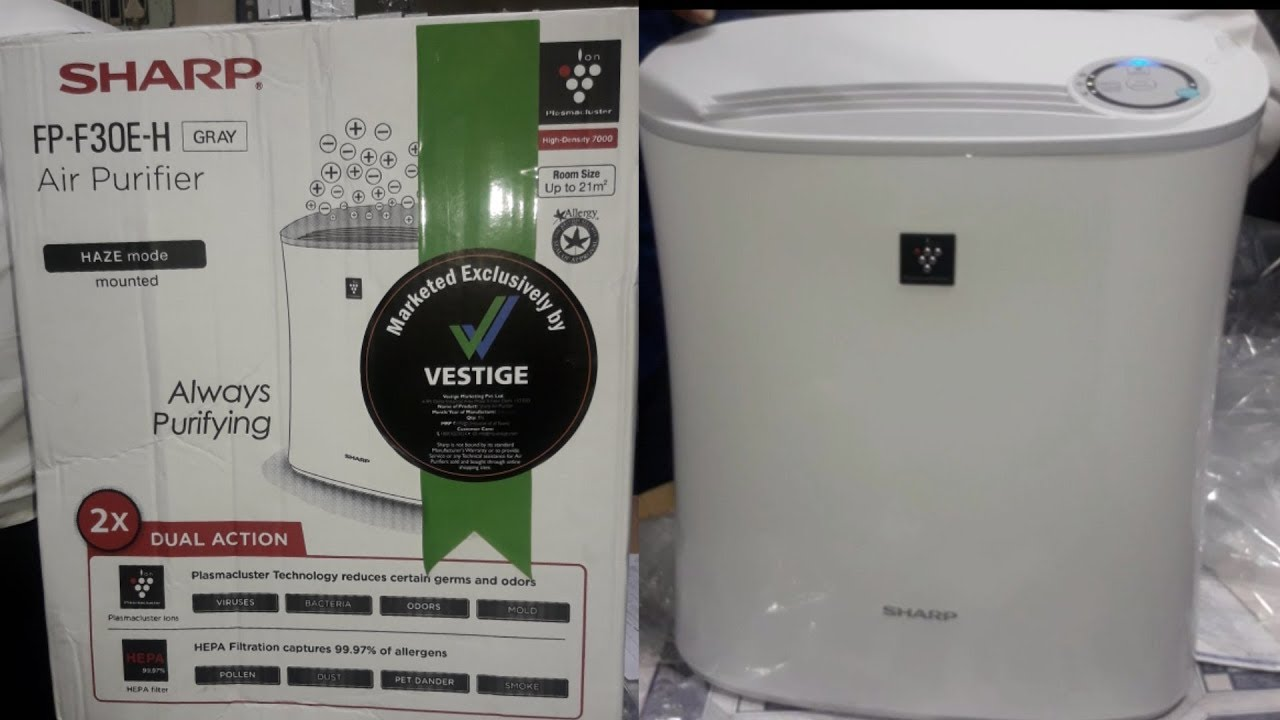 Vestige Air Purifier ,Sharp company Unboxing and demo