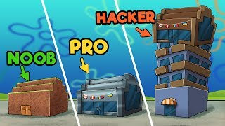Minecraft - KRUSTY KRAB CHALLENGE! (NOOB vs PRO vs HACKER)