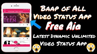 Professional Dynamic Video status App Free Aia |  Makeroid 🔥🔥🔥