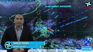 Public Weather Forecast Issued at 4:00 AM January 28, 2018