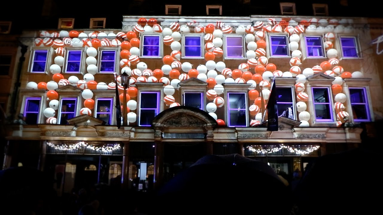 christmas video mapping jollys department store bath uk xmas lights turn on youtube - Christmas Light Store