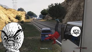 RUNNING PEOPLE OVER in GTA 5 (EPIC RAGE!)