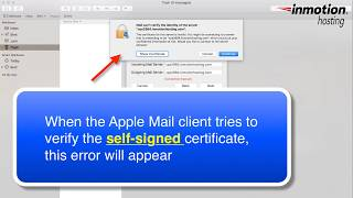 """How to fix the """"Can't verify the server"""" error on the Mac Mail Client"""