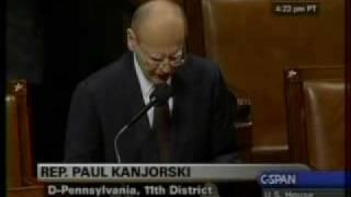 Congressman Kanjorski Statement on the Passing Away of Congressman Murtha
