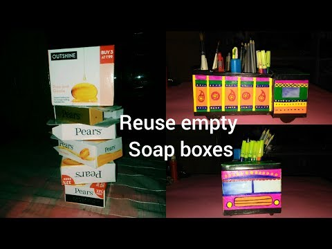 DIY ||DESK ORGANIZER USING|| EMPTY SOAP BOXES ||BEST OUT OF WASTE||