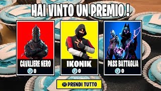 IKONIK FREE IN THE SERVER FORTNITE ITA LIVE SHOP 11 SEPTEMBER 2019 CODE CREATOR RASCO_OMG
