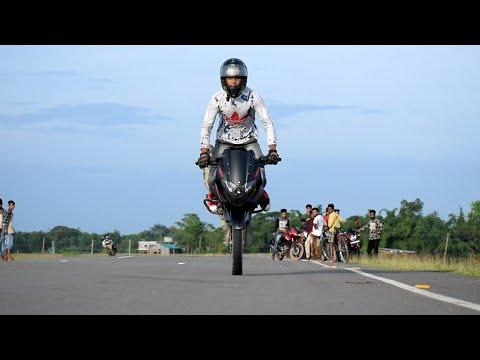 Pulsar 220 Wheelie - Stoppie | Stunts | Hailakandi Video