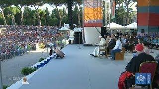 DOMANDE E RISPOSTE - SIAMO QUI - Il Papa incontra i giovani italiani 11/08/2018