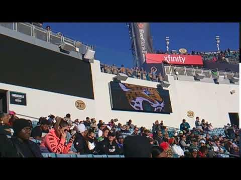 Seahawks 12 flag in Jaguars stadium swimming pool