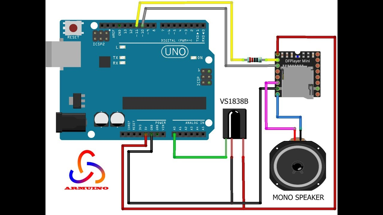 DIY - MP3 Player with IR Remote Controlled by Arduino
