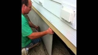 Duraskirt Panel Installation | Mobile Home Skirting 360-419-9909