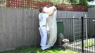 Paint Spot - How To Paint A Fence With A Spray Gun.mp4