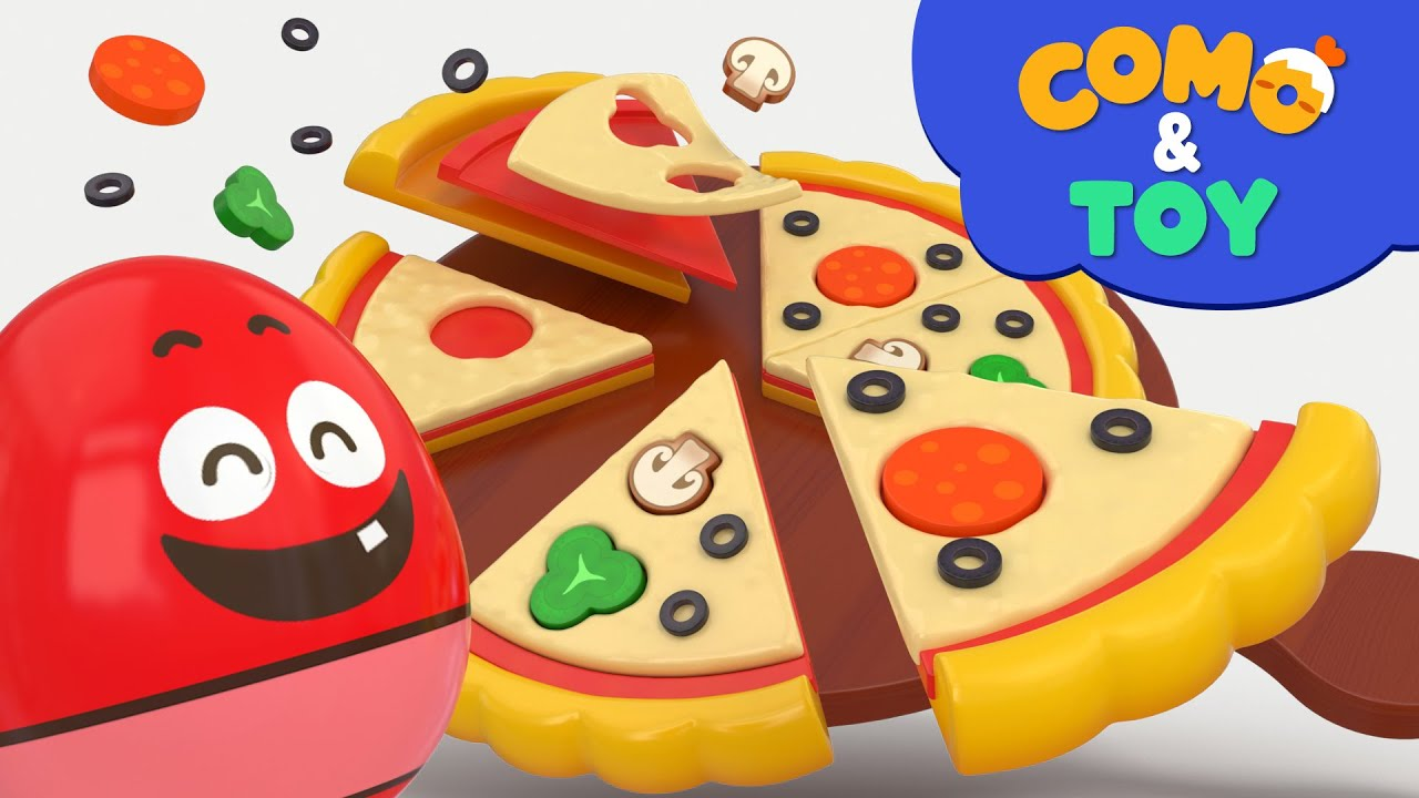 Como   Puzzle Pizza   Learn colors and words   Cartoon video for kids   Como Kids TV