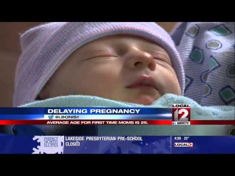 Delaying Pregnancy: Avg. age for first time moms is 26