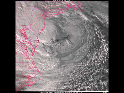 Hurricane Sandy: GOES-14 Super Rapid Scan (1-minute visible imagery)