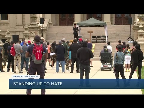 Lansing Protest Addresses Hate, Violence Directed At People Of Color