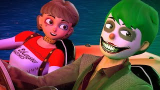 Scary teacher 3D - NickJoker and Tani Harley Quinn - SUPPRISE MEETING - BuzzStar Animation