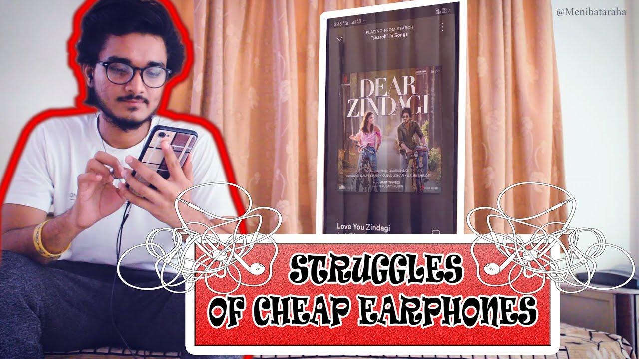 Struggles of Using CHEAP EARPHONES 😂😂 ! WATCH Till END