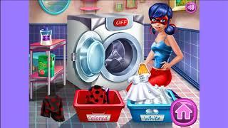 Игра стиральная машина онлайн. Ледибаг играть