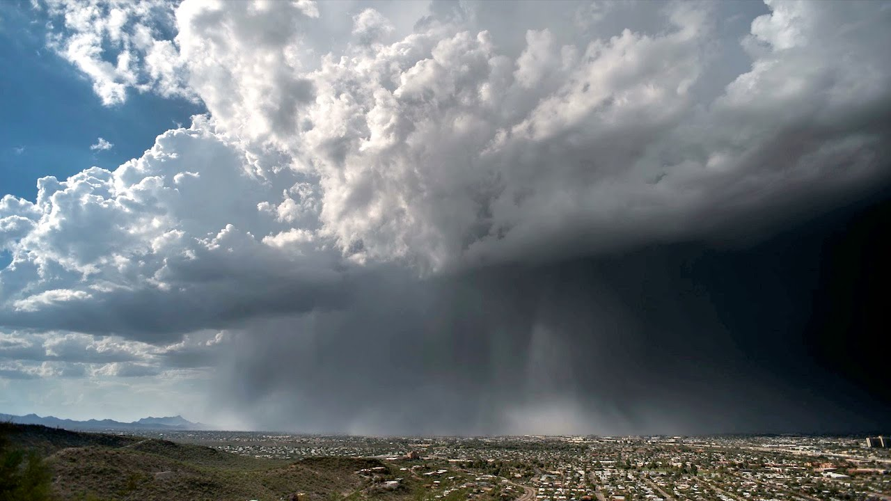 Rain Bomb Rare Wet Microburst Caught On Camera In Stunning Timelapse Youtube