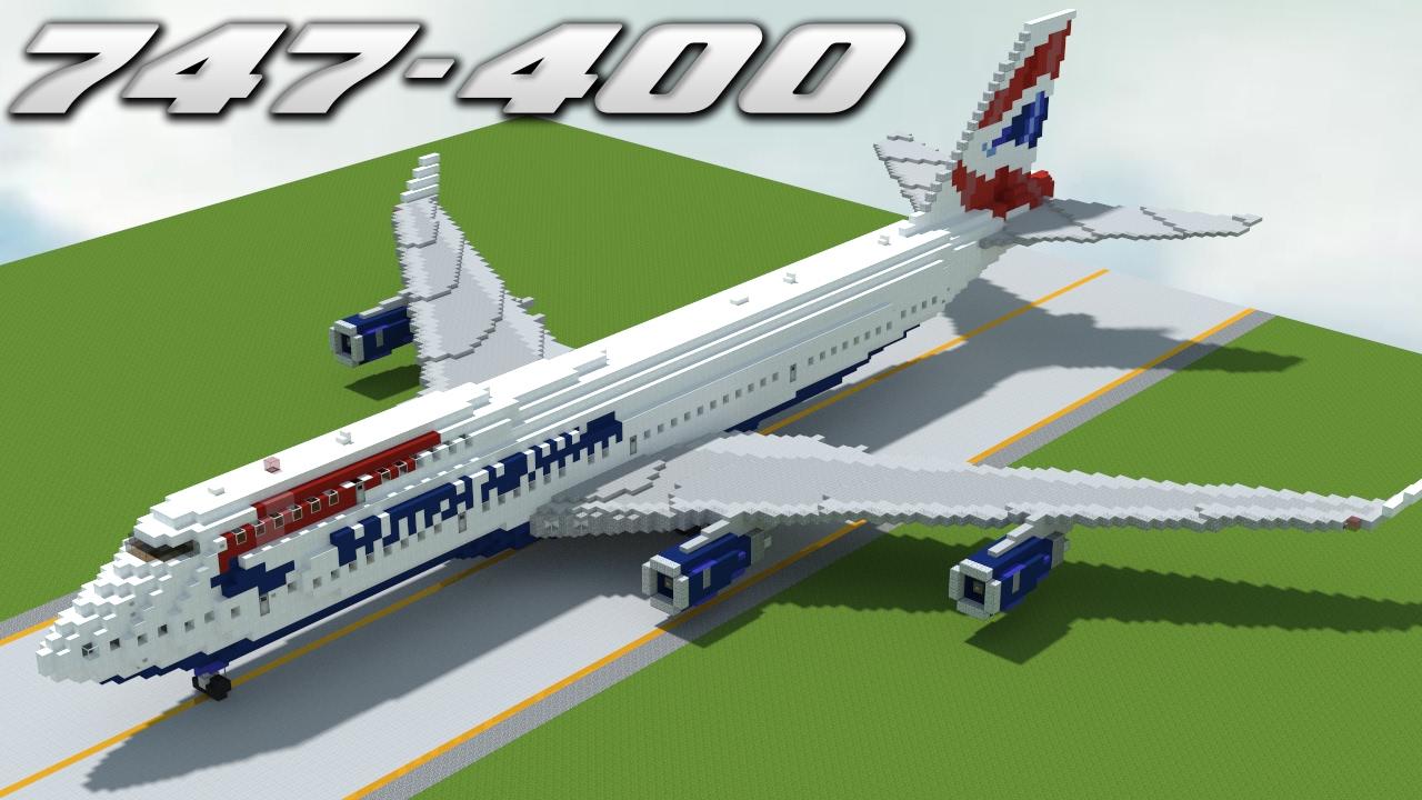 Delta boeing 747-400 painting timelapse | minecraft youtube.