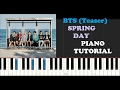 Bts Spring Day Piano Tutorial Teaser mp3