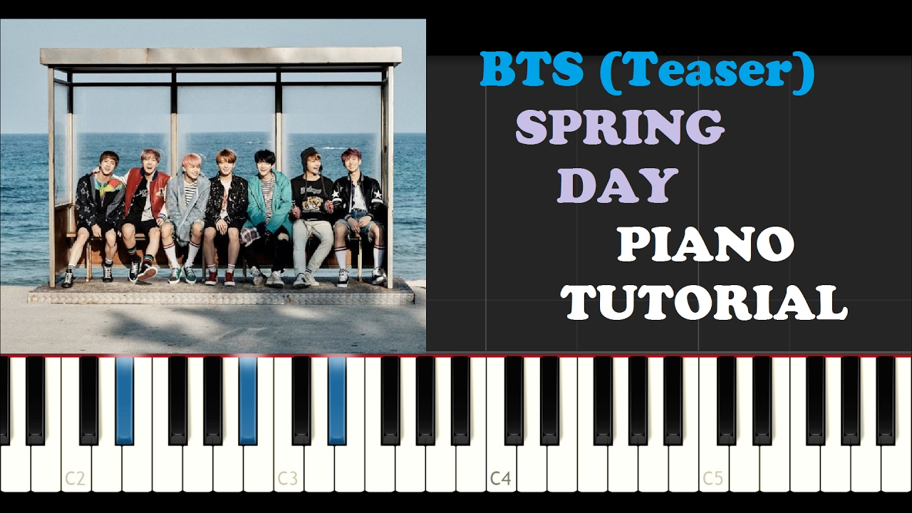 Bts spring day piano tutorial teaser youtube hexwebz Images