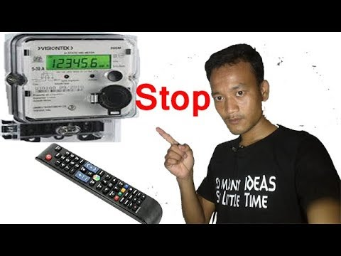 How To Work People Uses TV Remote To Stop Electric Meter in hindi