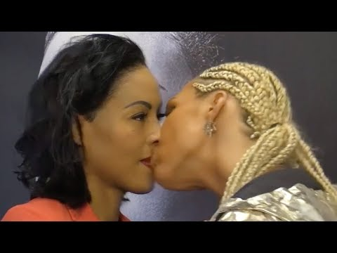 Female Boxer KISSES Opponent During Pre-Fight Face-Off