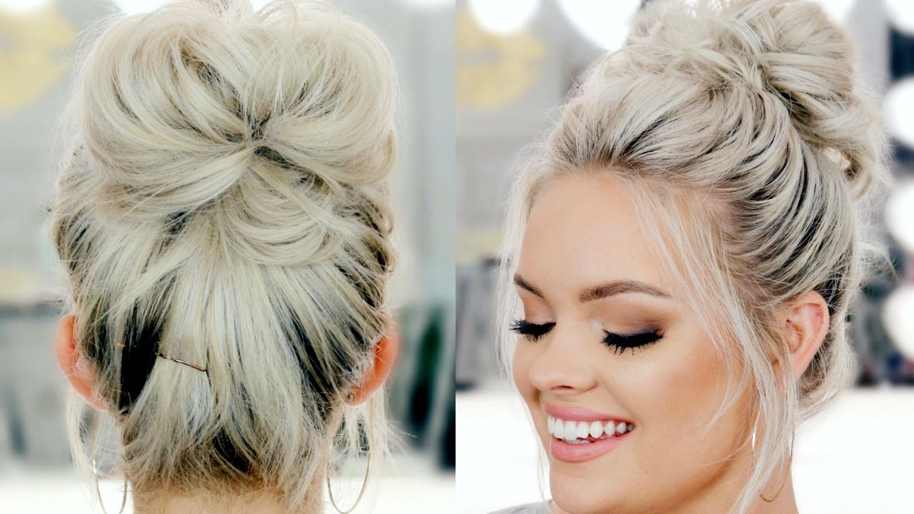 how to draw a messy bun easy