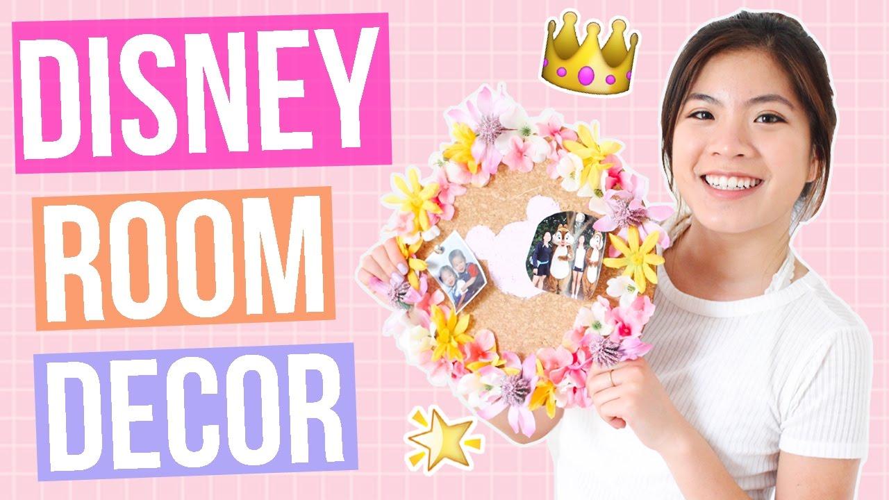 Diy Disney Room Decor That Disney Fans Must Try Tumblr Pinterest Inspired Ariel Alena Youtube