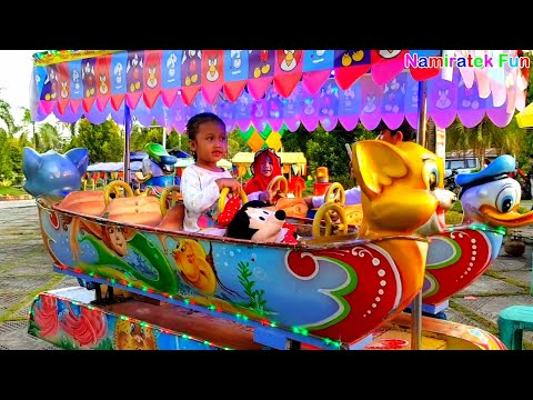 Kiddie Rides Odong Odong Animal Shaped Funny donald duck with mini mouse doll
