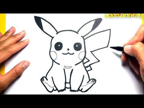 Cách Vẽ Pikachu Đơn Giản - How To Draw Pikachu Easy, pokemon