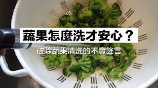 破除蔬果清洗的不實謠言!蔬果怎麼洗才安心?|科學大爆炸EP.41
