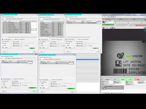 AutoVISION Demo 13: Changing Inspection Jobs Using a PLC Over