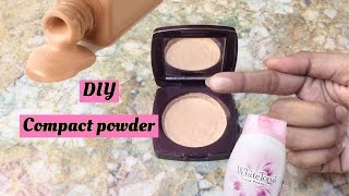 DIY compact powder || Make your own compact powder or pressed powder at home easily