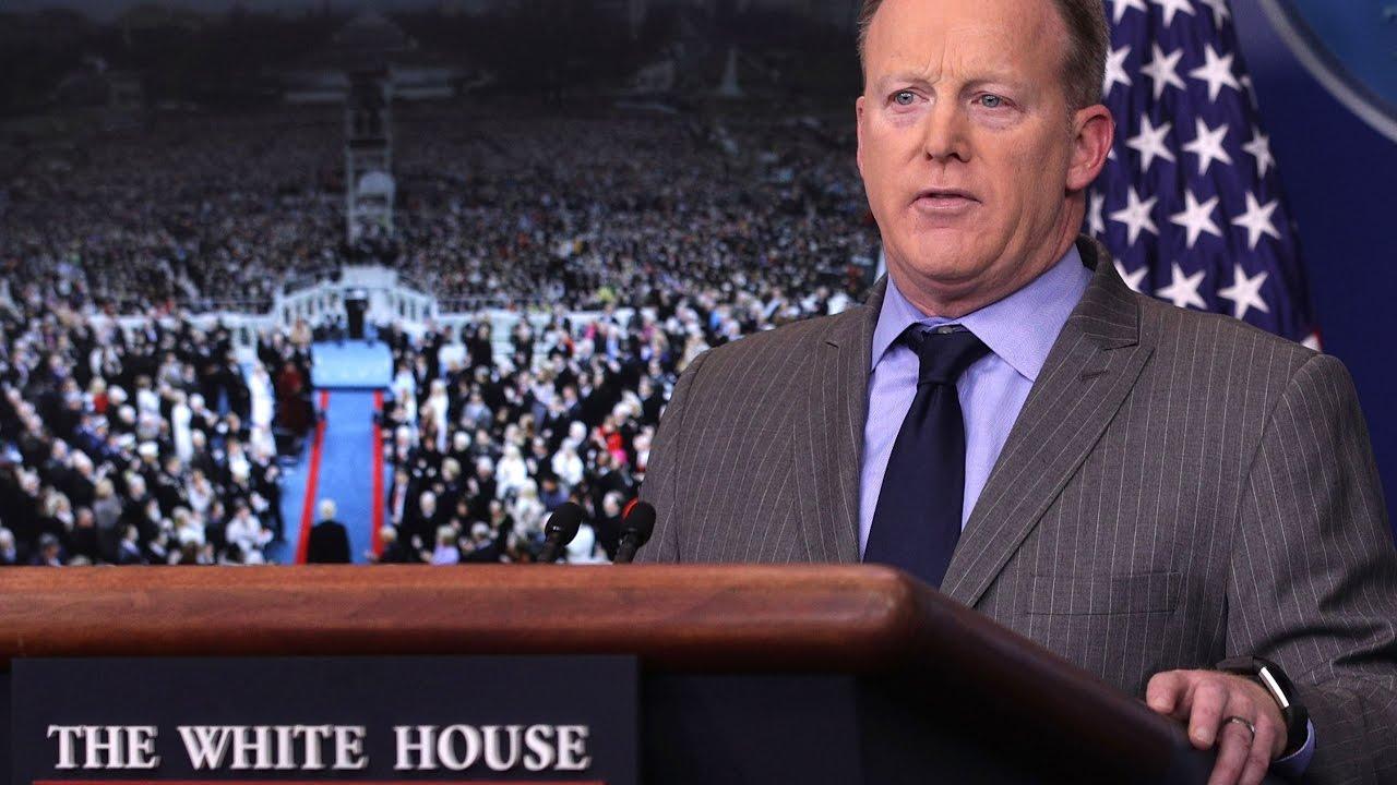 sean spicer slams the dishonest media white house press secretary